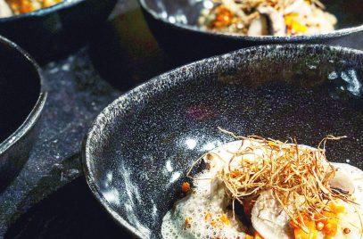 Risotto aux champignons, kasha et radicelles