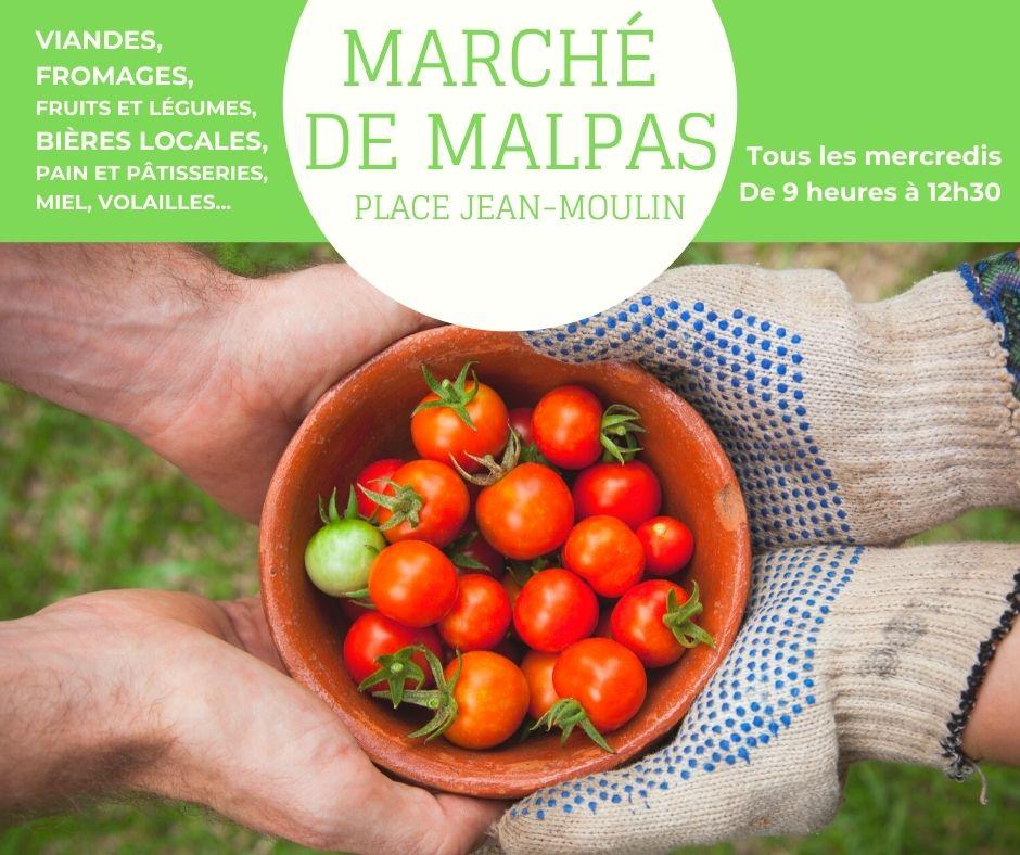 Marché hebdomadaire de Malpas (Cussac-sur-Loire)