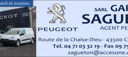 Sarl Garage Sagueton – agent Peugeot