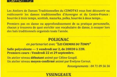 Ateliers de Danses Traditionnelles