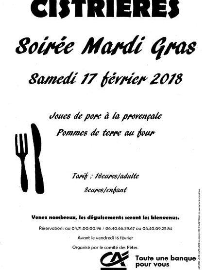 EVE- soirée Mardi Gras