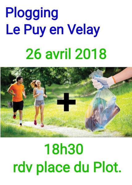 """""""Plogging"""" in le Puy en Velay : jogging et ramassage des déchets dans la ville"""