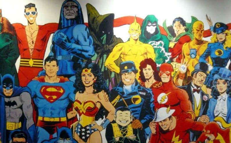 Fresque de Super-héros à New-York