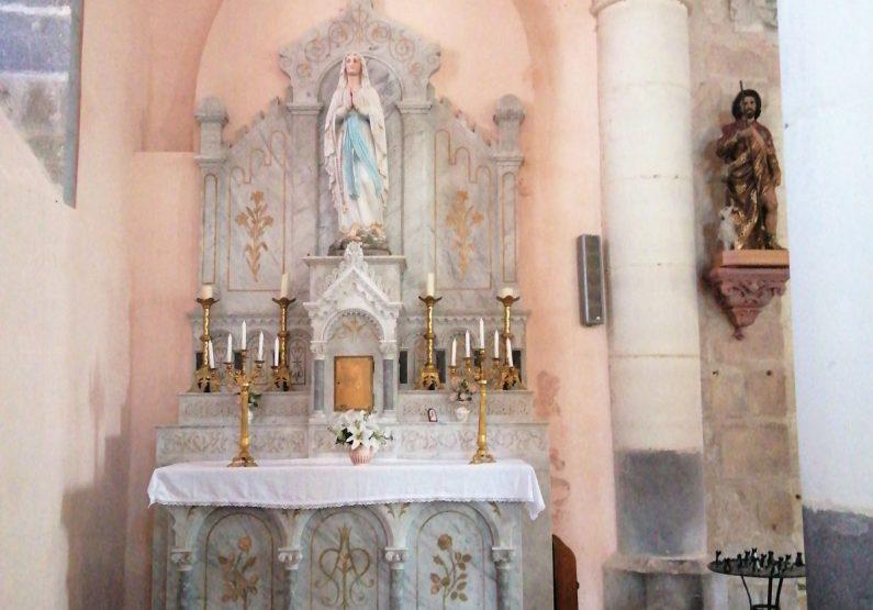 PCU_ Eglise st-Roch_autel Notre Dame de Lourdes
