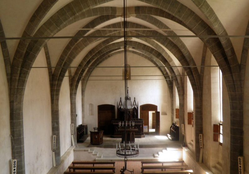 PCU_Abbaye de La Chaise-Dieu_Chapelle des Pénitents_intérieur ancien réfectoire